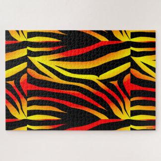 Tiger Stripes Animal Print Pattern Puzzle