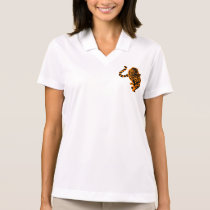 Tiger Stripes Art Smart School Teacher Destiny Polo Shirt