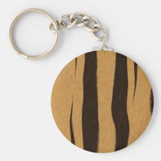 Tiger Stripes Basic Round Button Keychain