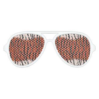 Tiger Stripes Brown Aviator Sunglasses