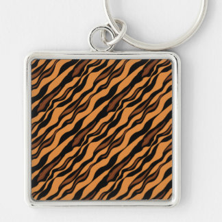 Tiger Stripes Camouflage Pattern Keychain