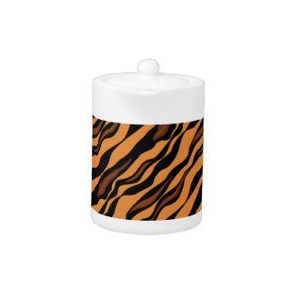 Tiger Stripes Camouflage Pattern Tea Pot