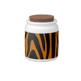 Tiger Stripes Candy Jar