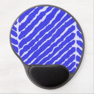 Tiger Stripes Cobalt Blue Canvas Look Gel Mouse Mats