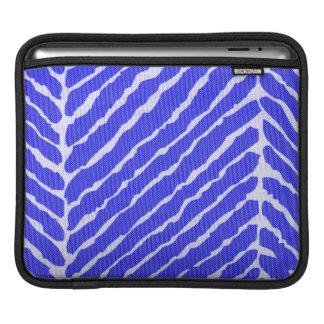 Tiger Stripes Cobalt Blue Canvas Look iPad Sleeve