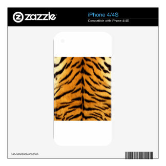 Tiger Stripes Decal For iPhone 4