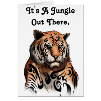 Tiger Stripes- Designer Friendship Greeting Card