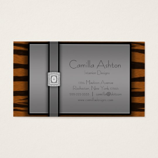 Tiger Stripes & Diamonds Business Cards