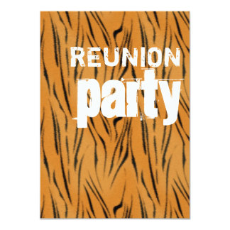 Tiger stripes gold Reunion Party Card