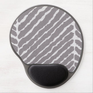 Tiger Stripes Gray Canvas Look Gel Mousepads
