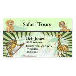 Tiger Stripes Jungle Baby Shower Set Double-Sided Standard Business Cards (Pack Of 100)