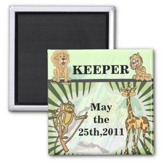 Tiger Stripes Jungle Baby Shower Set Magnet