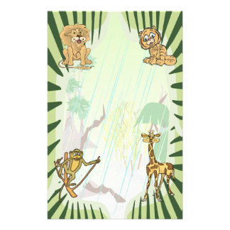 Tiger Stripes Jungle Baby Shower Set Personalized Stationery