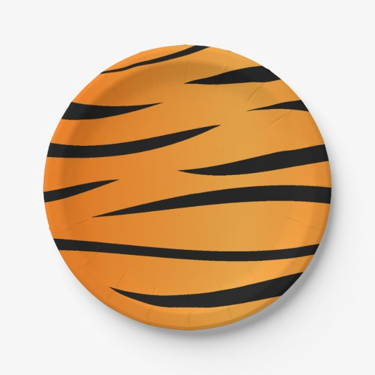 Tiger Stripes Paper Plate  sc 1 st  Zazzle & Tiger Stripes Paper Plate | Zazzle.com
