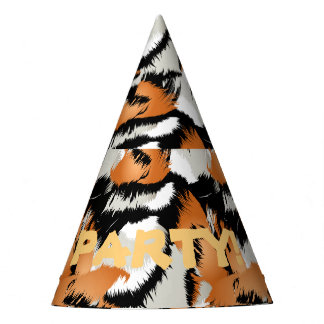 Tiger stripes party hat