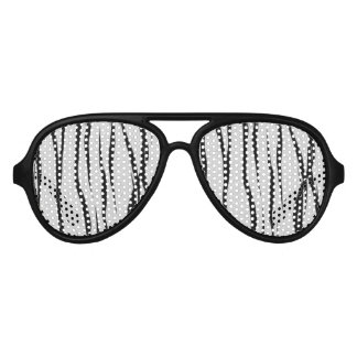 Tiger Stripes Pattern Aviator Sunglasses