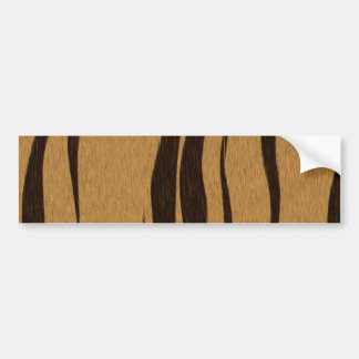 Tiger Stripes Pattern Bumper Sticker