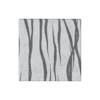 Tiger Stripes Pattern Stone Magnet