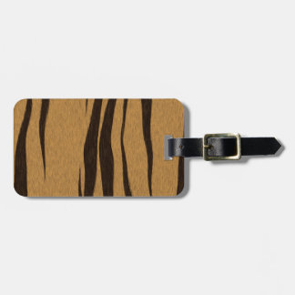 Tiger Stripes Pattern texture Tag For Luggage