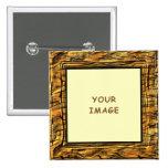 Tiger Stripes Photo Frame Button