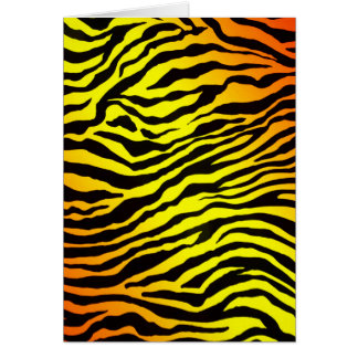 Tiger Stripes (portrait) Card