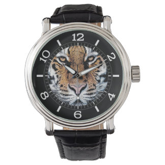 Tiger stripes Portrait in Graphic Press Style Dial Watch