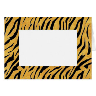 Tiger Stripes Print Border Note Card