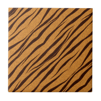 Tiger Stripes Skin Pattern Personalize Ceramic Tile