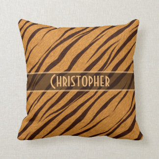 Tiger Stripes Skin Pattern Personalize Throw Pillow