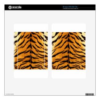 Tiger Stripes Skins For Kindle Fire