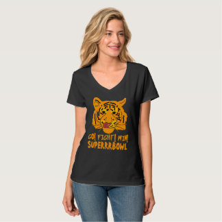 Tiger SuperBowl Football Black T-Shirt