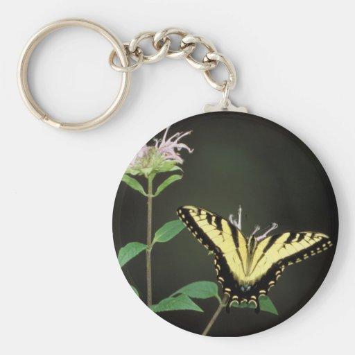 Tiger Swallowtail Basic Round Button Keychain