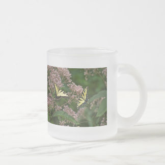Tiger Swallowtail Butterflies on Joe Pye Weed 10 Oz Frosted Glass Coffee Mug