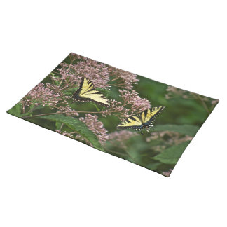 Tiger Swallowtail Butterflies on Joe Pye Weed Cloth Placemat