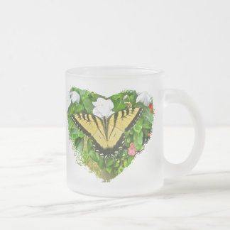 Tiger Swallowtail Butterfly 10 Oz Frosted Glass Coffee Mug