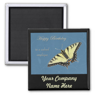 Tiger Swallowtail Butterfly 2 Inch Square Magnet