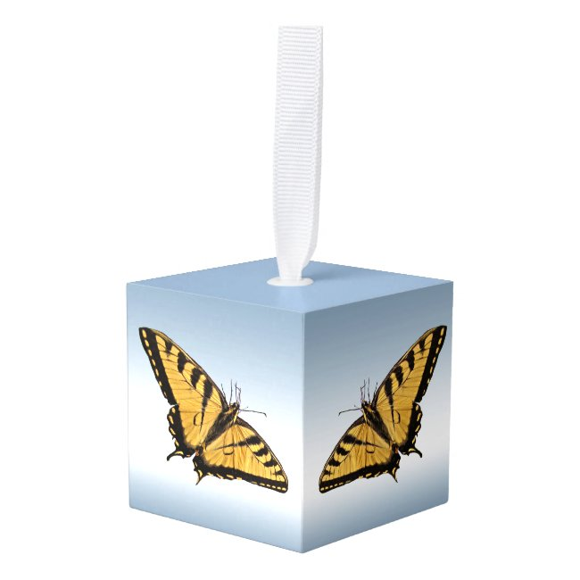 Tiger Swallowtail Butterfly Animal Cube Ornament