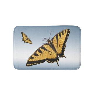 Tiger Swallowtail Butterfly Bath Mats