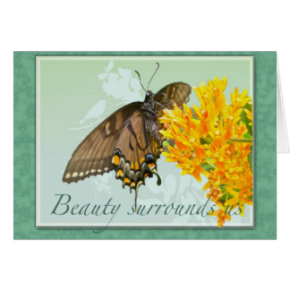 Tiger Swallowtail Butterfly Beauty Surrounds Us Card