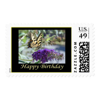 Tiger Swallowtail Butterfly Birthday Stamp