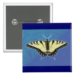 Tiger Swallowtail Butterfly Pinback Buttons