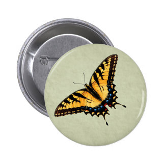 Tiger Swallowtail Butterfly Button