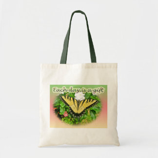Tiger Swallowtail Butterfly Each Day is a Gift Canvas Bag