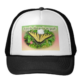 Tiger Swallowtail Butterfly Each Day is a Gift Mesh Hat