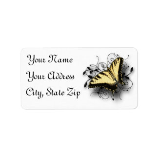 Tiger Swallowtail Butterfly Label