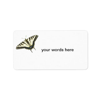 Tiger swallowtail butterfly Lepidopterology Label