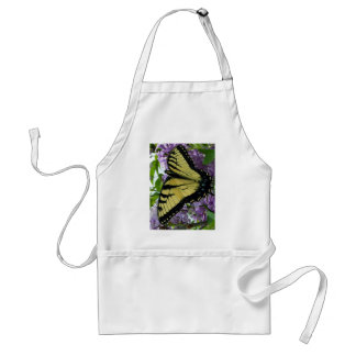 Tiger swallowtail butterfly lilac photo adult apron