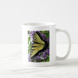 Tiger swallowtail butterfly lilac photo coffee mug
