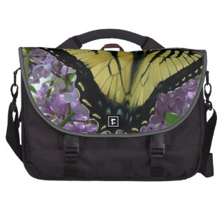 Tiger swallowtail butterfly lilac photo bag for laptop