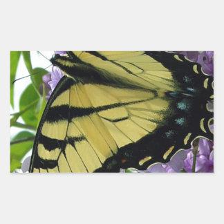 Tiger swallowtail butterfly lilac photo rectangular sticker